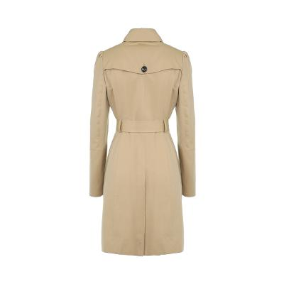 puff sleeve double button trench coat